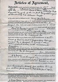 HANDWRITTEN AGREEMENT BETWEEN DAVID B. GINDER OF MOUNT JOY TOWNSHIP, LANCASTER COUNTY,  AND GEORGE D. SWEIGERT OF LONDONDERRY TOWNSHIP, LEBANON COUNTY, 23 APRIL 1910
