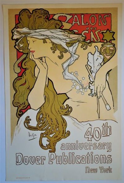 New York: Dover Publications, Inc., 1981. Publisher's promotional poster featuring the classic Art N...