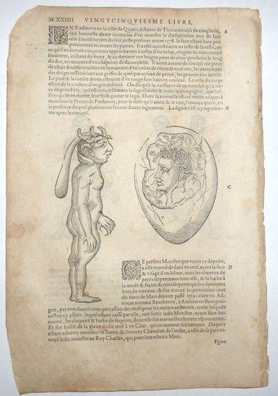 Paris: Chez G Boun, 1585. Unbound. Very good. This leaf (M.XXIII-M.XXIIII) measures approximately 8....