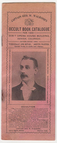 Captain Geo. W. Walrond's Occult Book Catalog for 1900-1