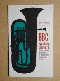 BBC Symphony Orchestra. Concert Programme.