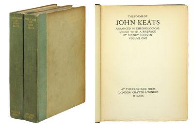 2 vols. London: Chatto & Windus, 1920. 2 vols., 4to, xviii, 338; viii, 371pp. Quarter dark green/gra...