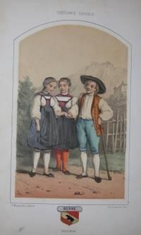 Geneve; Paris : S. Morel; Imprimerie Lemercier, Circa 1865. Paper Pastedown on Boards. Very Good. 24...
