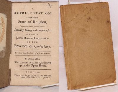 London: Printed for John Morphew, 1711. 31p., disbound 7.8x4.8 inch textblock enclosed in makeshift ...