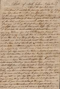 1857 Manuscript letter written by John L. Nicholson of Moore County, North Carolina to William Burcheson (sp?) discussing health, condition of peachtrees, horses, wagons, masons and neighbors