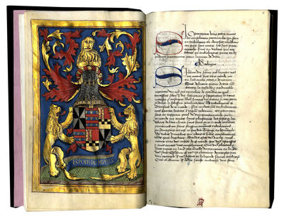 ELEGANT MANUSCRIPT CONTAINING TWO WORKS OF SPIRITUAL AND MORAL EDIFICATION IN FRENCH TRANSLATION. Il...