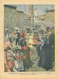 La fiorita nel luogo dove fu arso Girolamo Savonarola a Firenze.