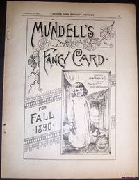 A Vintage Full Page Advertisement for a Victorian Tradecard Issued by John  Mundell and Company