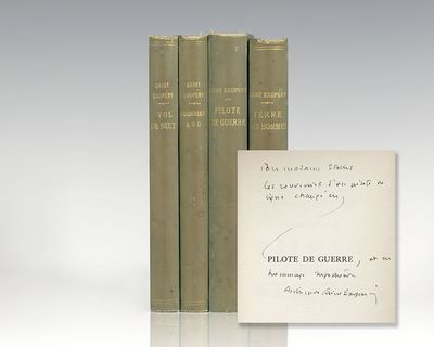 Paris: Librarie Gallimard, 1931-42. Early printings of Saint-Exupery's first four books. Octavo, fou...