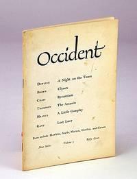 OCCIDENT New Series Volume I Spring 1961