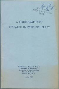 image of A Bibliography of Research in Psychotherapy