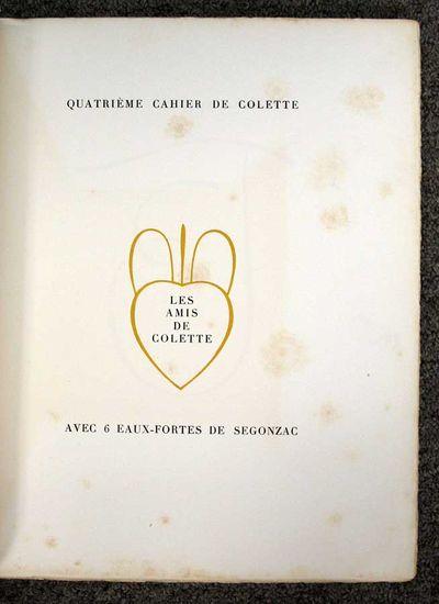 : Les Amis de Colette, 1936. 1st edition (Norell 0832). #146 / 175 cc. SIGNED by Colette. Original p...