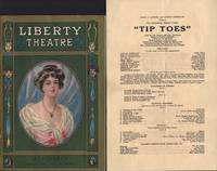 "image of Liberty Theatre program for ""Tip-Toes"" and laid in broadside."