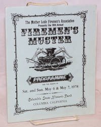 image of 18th Annual Firemen's Muster: programme for the events of Sat. and Sun. May 6_7, 1978, Columbia State Historic Park