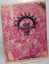 1978 Gay Freedom Day: official program, gay pride week, June 18-25