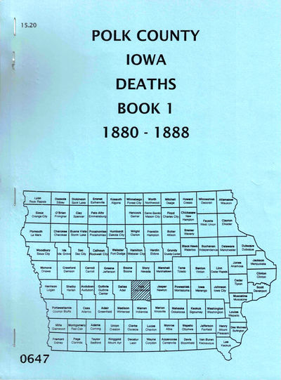 Des Moines: Iowa Genealogical Society, 1988. Paperback. Very good. 110pp. Very good in publisher's s...