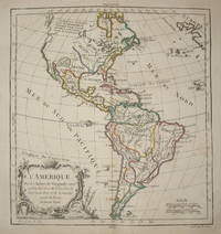 (Map of North and South America): L'Amerique Par le S. Rober De Vaugondy