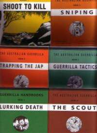 The Australian Guerrilla   (6 Books in slipcase = Shoot to Kill, Sniping, Guerrilla Tactics, Trapping the Jap, Lurking Death, The Scout)
