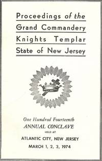 PROCEEDINGS GRAND COMMANDERY KNIGHTS TEMPLAR STATE NEW JERSEY 1974
