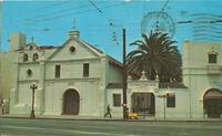 Old Mission Plaza Church, Los Angeles, California 1968 used Postcard