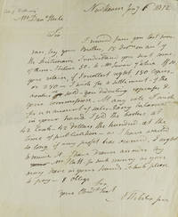 "Autograph Letter Signed, ""N Webster jun[ior],"" to bookseller Daniel Steele of Albany, NY requesting payment for the sale of a Dictionary"
