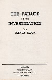 THE FAILURE OF AN INVESTIGATION