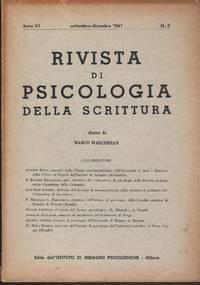 Rivista di psicologia della scrittura VII No. 2, 3 1961