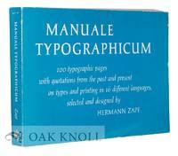 image of MANUALE TYPOGRAPHICUM