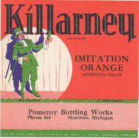image of An Original Vintage Killarney Soda Bottle Label