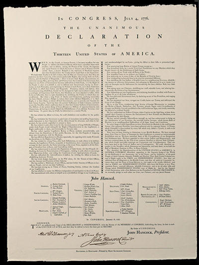 Recreation of the Declaration of...