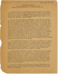 [Drop title] Statement on Fascism by the National Planning Committe of AVC, Quarterly Meeting, November 9 - 11, 1946, New York City