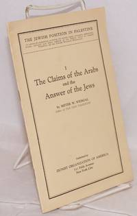 The claims of the Arabs and the answer of the Jews