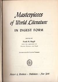 MASTERPIECES OF WORLD LITERATURE in digest form, second series