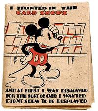 Walt Disney Mickey Mouse Birthday Card with Envelope Postmark 1935