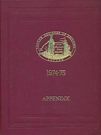Lloyd's Register of Shipping. Appendix. 1974-75