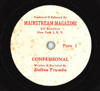 [Original Phonograph Recording of:] CONFESSIONAL  WRITTEN AND NARRATED BY ...