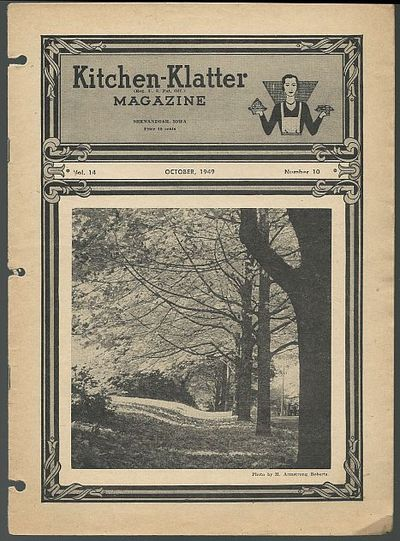 KITCHEN KLATTER MAGAZINE OCTOBER 1949, Driftmier, Leanna Field
