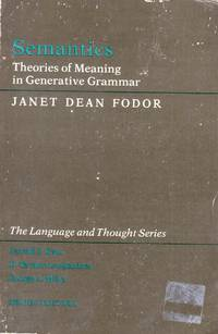 Semantics by  Janet Dean Fodor - Paperback - 1982-07-19 - from Kayleighbug Books (SKU: kb019112)