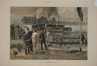"""""""Victory"""".  A Sketch at an Oxford and Cambridge Boat Race.  Wood block engraving from The Graphic"""