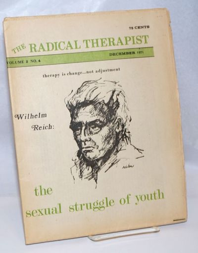 Somerville, Mass: The Radical Therapist, 1971. 23p., folded tabloid format, worn and evenly toned, a...