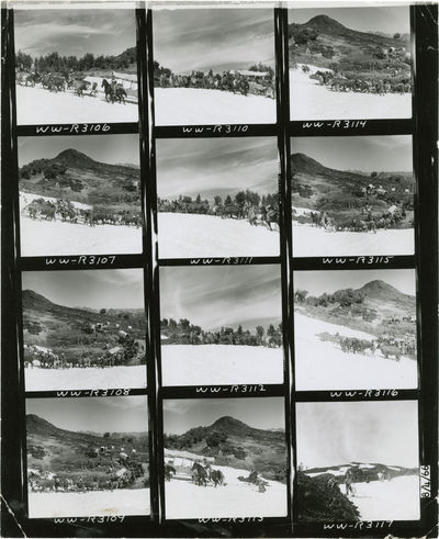Beverly Hills, CA: United Artists, 1966. Vintage black-and-white studio still contact sheet from the...