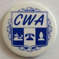 image of CWA [pinback button]