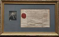 "Partly printed Document Signed (D.S.) ""Jonth. Trumbull"