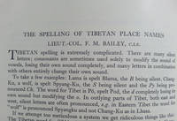 The Spelling of Tibetan Place Names.