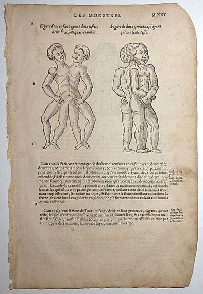 Paris: Chez G Boun, 1585. This leaf (M.XXV-M.XXVI) measures approximately 8.25