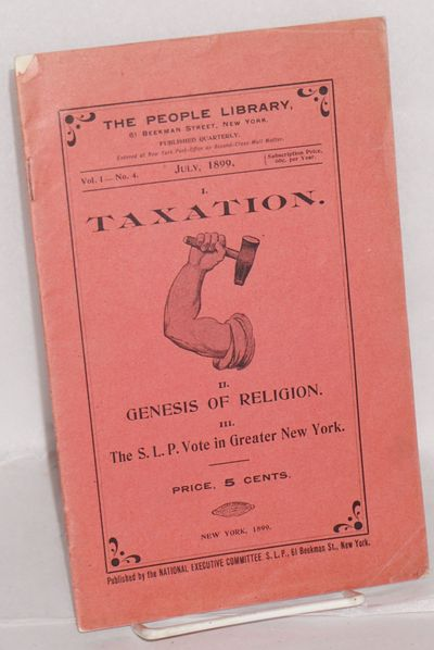 New York: National Executive Committee, SLP, 1899. pp. 49-72, complete issue with original red wraps...