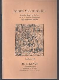 Books about books from the library of the late A.N.L. Munby, Cambridge, and from other sources:...