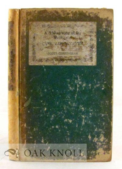 Philadelphia: The Centaur Book Shop, 1924. boards, paper spine and cover labels. Van Vechten, Carl. ...