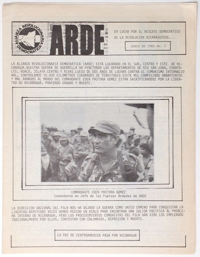 : ARDE, 1985. , 8.5x11 inch newsletter, very good. No place of publication given, but ads are from t...