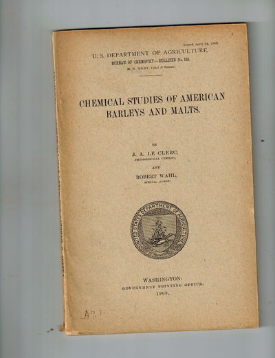 Washington, D.C.: U.S. Department of Agriculture, Bureau of Chemistry , 1909. RARE First Edition, 19...